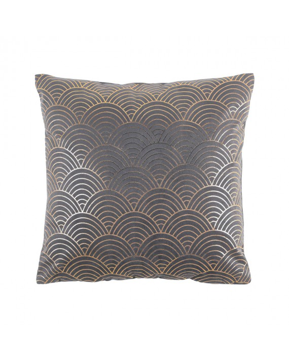 Coussin velours 40x40 Duchesse anthracite