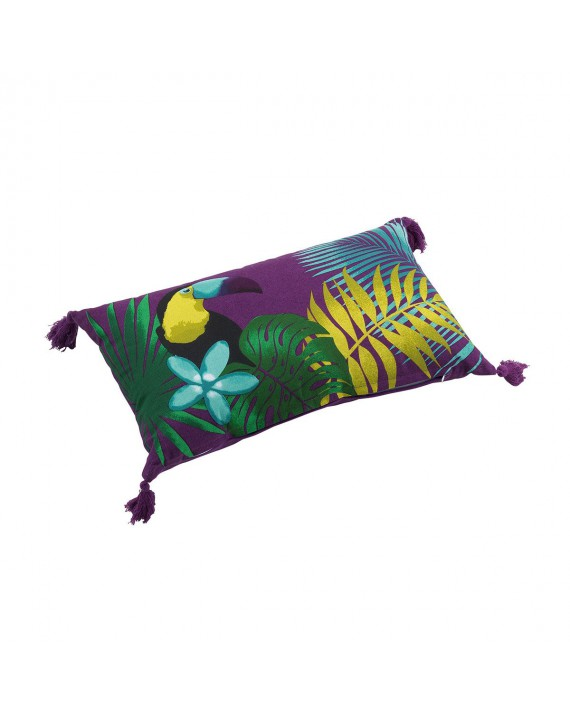 Coussin pompons 30x50 Hawaina