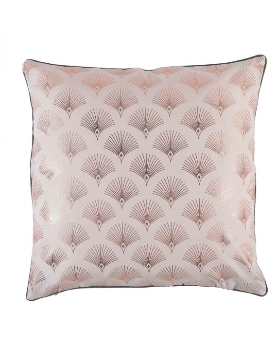Coussin Passepoil 60x60 Goldy Rose Anthracite