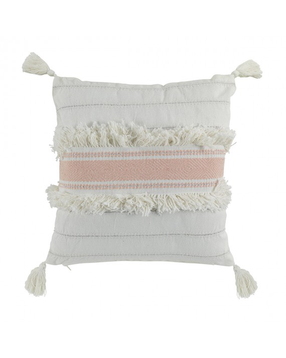 Coussin pompons 40x40 cm Indira rose