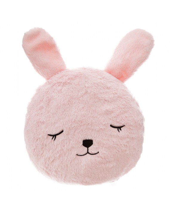 Coussin rond fur lapin