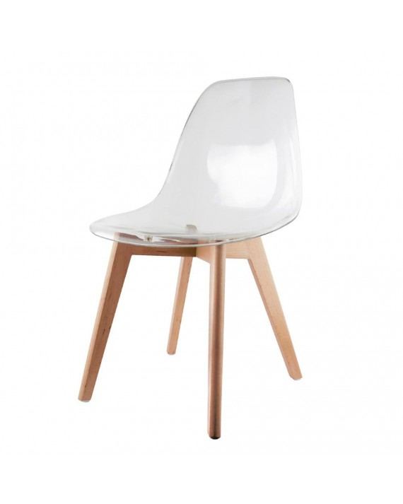 Chaise scandinave transparente