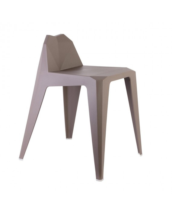 Tabouret Origami taupe
