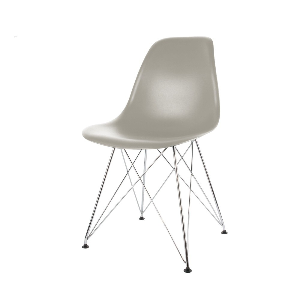 chaise scandinave grise pieds chroms - Chaise Grise Scandinave