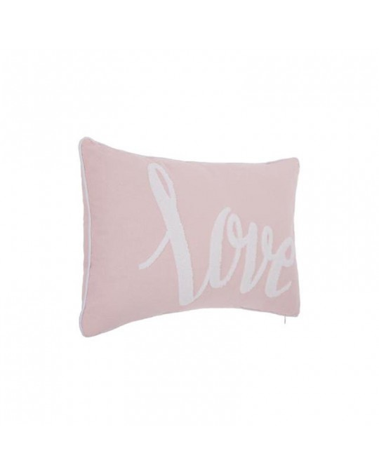 Coussin Love rose 30 x 50 cm