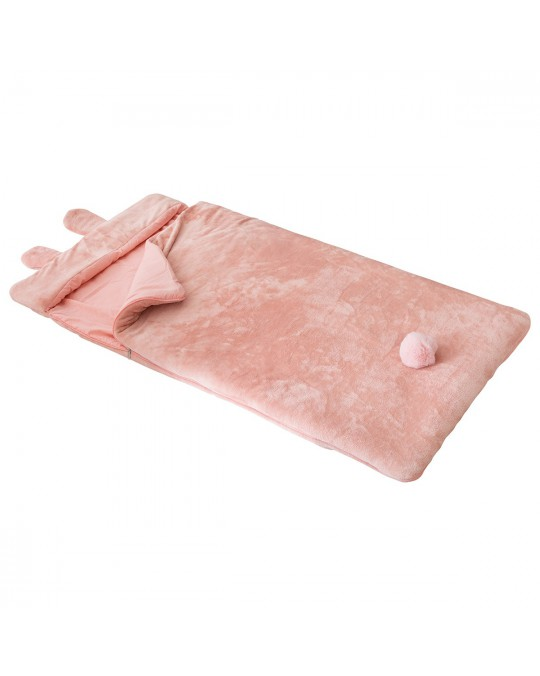 Sac de couchage lapin rose