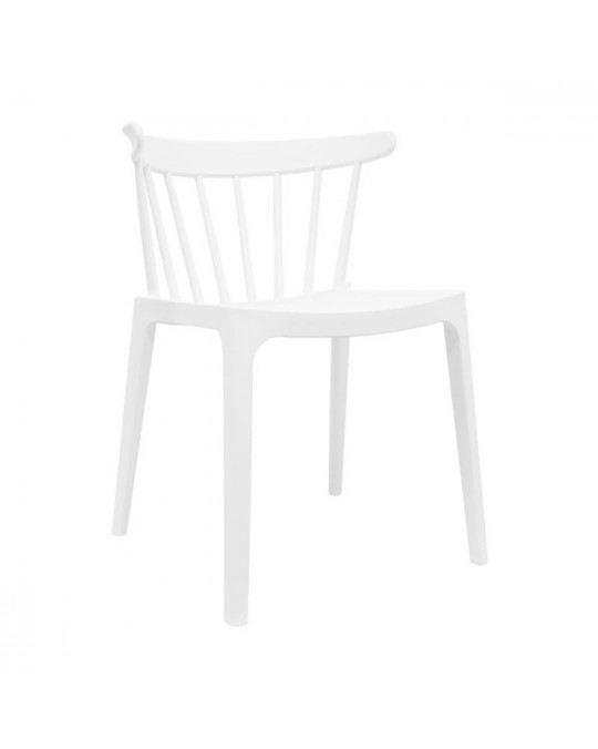 Chaise Dink empilable blanc