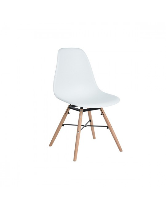 Chaise scandinave Flamel blanc