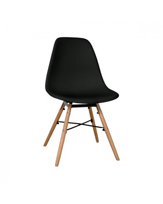 Chaise scandinave Morry noir