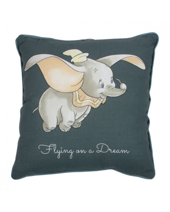 Coussin 30x30 cm Dumbo flying coton