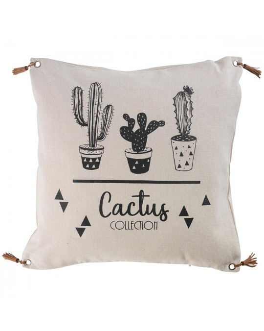 Coussin pompons 45x45 Cacti