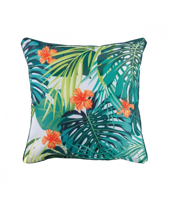 Coussin passepoil 40x40 Flash Tropic