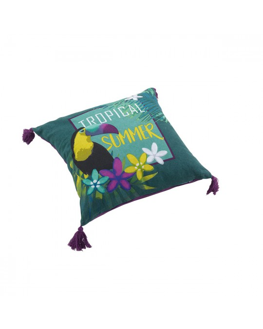 Coussin pompons 40x40 Hawaina