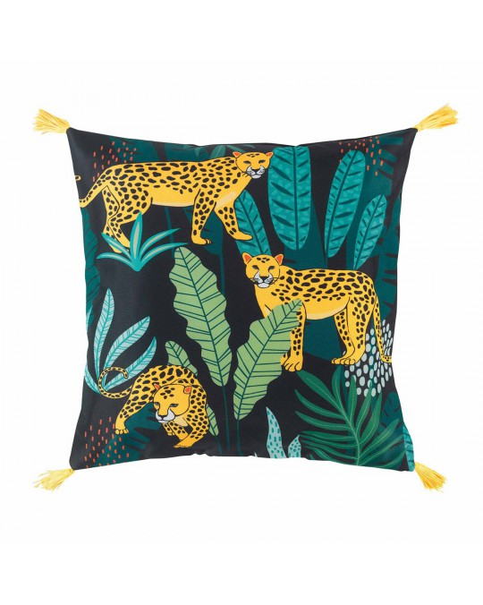 Coussin pompons 40x40 Mystic Jungle