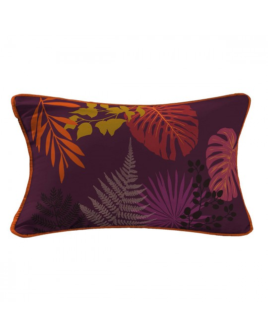 Coussin passepoil 30x50 Palmire prune
