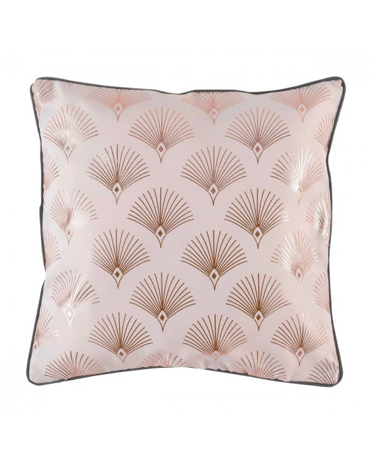 Coussin passepoil 40x40 Goldy anthracite rose