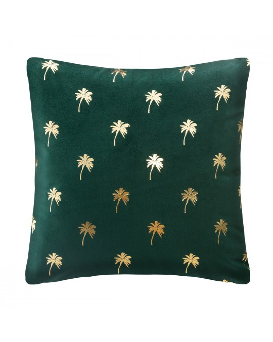 Coussin velours or Tropic 40x40 cm