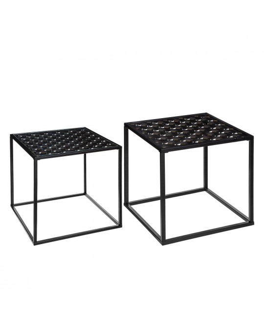 Lot de 2 tables à café Peacock