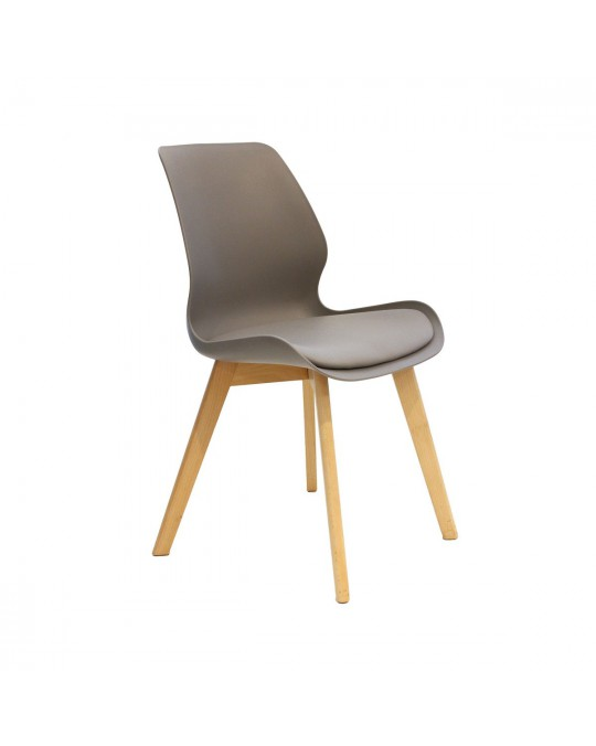 Chaise scandinave Ley gris