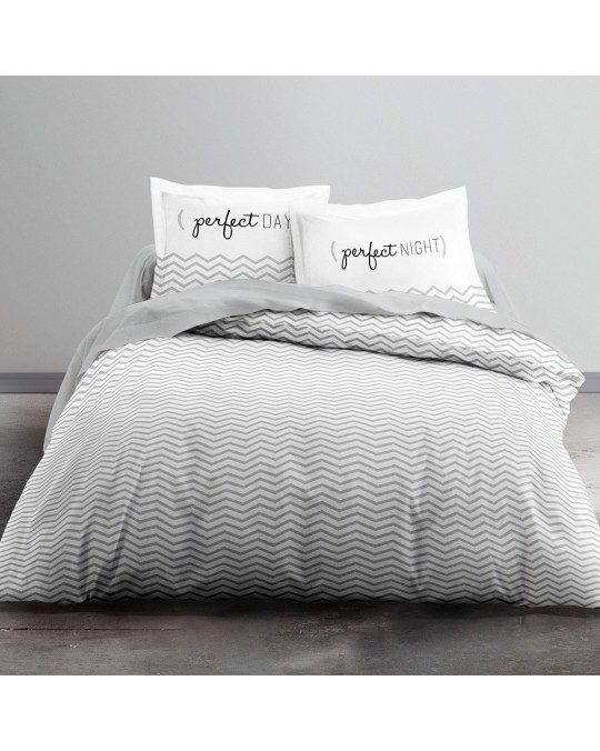 Housse de couette 240x260 Enjoy Perfect D + 2 taies 100% coton 57 fils