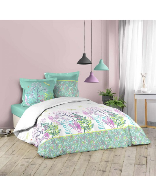 Housse de couette 220x240 Fresh Liberty + 2 taies coton