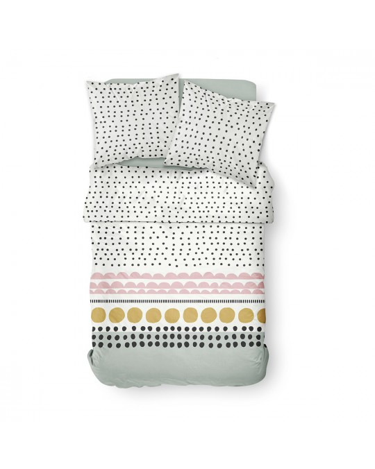 Housse de couette 220x240 Sunshine Grants + 2 taies 100% coton 57 fils