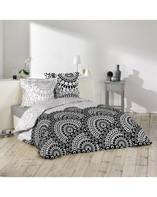 Housse de couette 240x260 Oural + 2 taies 100% coton