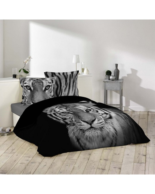 Housse de couette 240x260 Tigery + 2 taies 100% coton