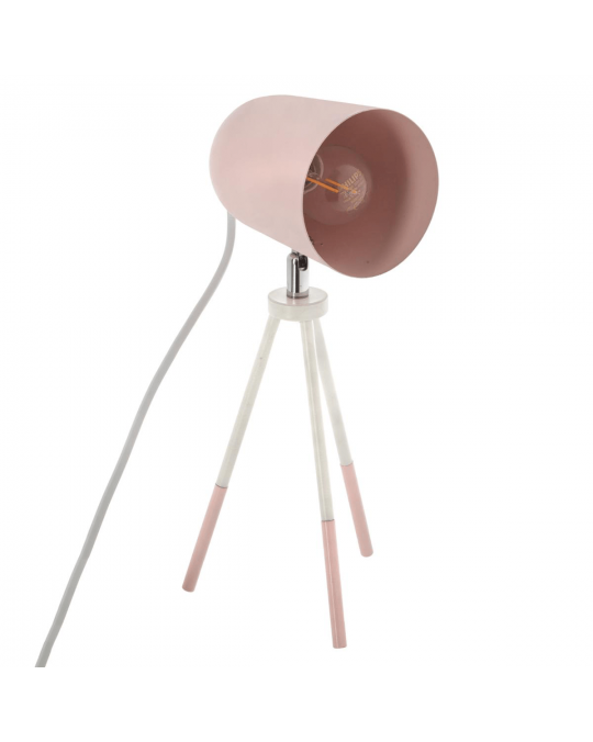 Lampe scandinave trépied rose