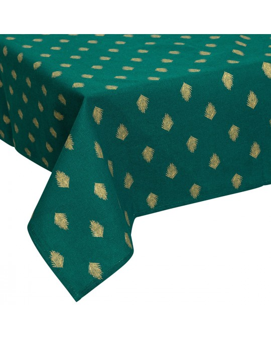 Nappe rectangulaire 140x240 cm Or Feuille