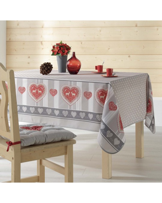 Nappe rectangulaire 150x240 cm Edelweiss naturel