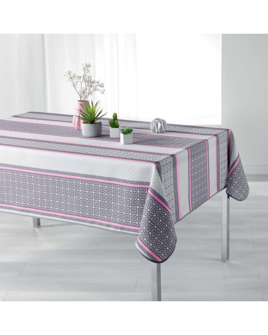 Nappe rectangulaire 150 x 240 cm FELIZ rose