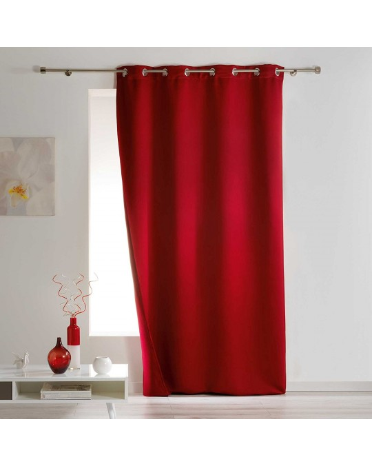 Rideau Occultant isolant 140x260 Rouge
