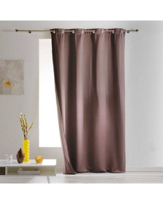 Rideau Occultant isolant 140x260 Taupe