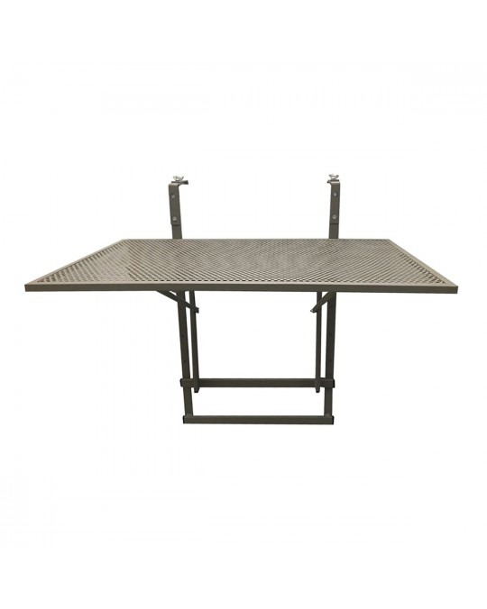 Table de balcon pliable taupe