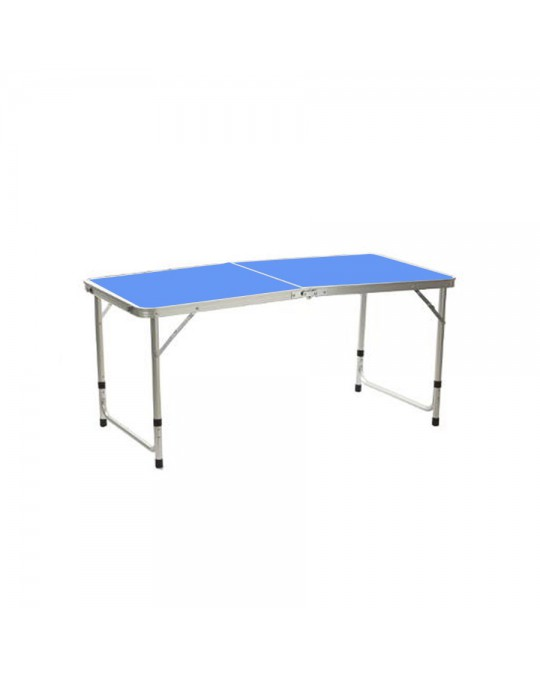 Table pliante alu bleu
