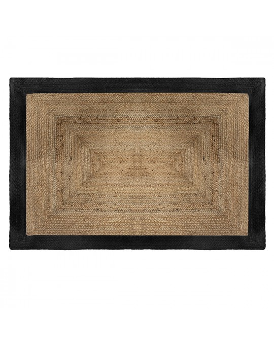 Tapis rectangle en jute 120x170 cm noir