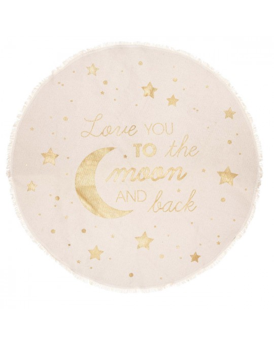 Tapis moon and back D120 cm