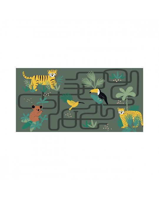 Tapis rectangle 60x120 cm Animaux and co