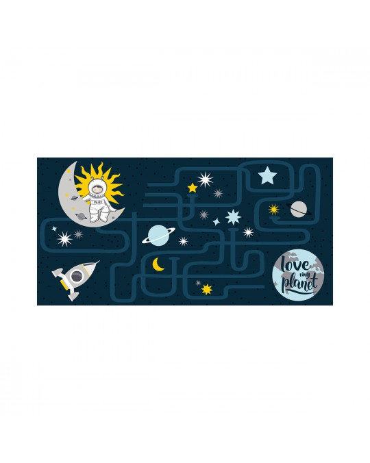Tapis rectangle 60x120 cm Petit Astronaute
