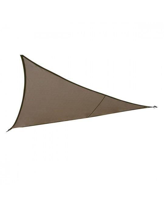 Voile d'ombrage Curaçao 4x4x4 m taupe