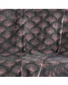 Plaid 125x150 cm Coral Metal Goldy anthracite or rose détail