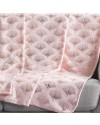 Plaid 125x150 cm Coral Metal Goldy rose or rose détail